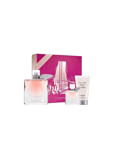 Lancome La Vie Est Belle EDP 75 ml + EDP 4 ml + Vücut Losyonu 50 ml Kadın Parfüm Seti Renksiz